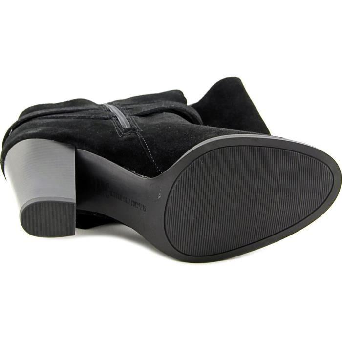 INC International Concepts Jordana Wide Calf Femmes Daim Botte Ruimxk