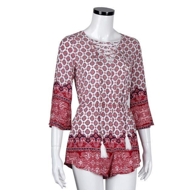 Femmes Paontry6520 Pantalon Combishort Party Clubwear Combinaison Barboteuse Summer Dames rPzFxqwAr