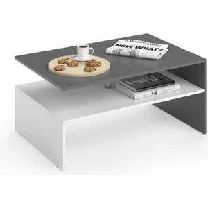 TABLE BASSE Table basse  Anthracite Blanc  42 x 90 x 60 cm