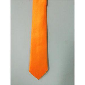 CRAVATE - NŒUD PAPILLON Cravate Homme Femme orange Unie Satin 135cm Tenue