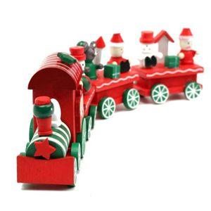 PORTEUR - POUSSEUR Populaire en Bois de Train de Noël Cadeau d'orneme