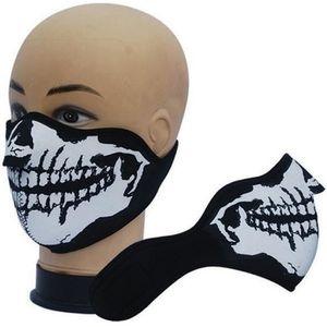 MASQUE - LUNETTES SKI Masque Protection Neoprene Ghost Tete de Mort