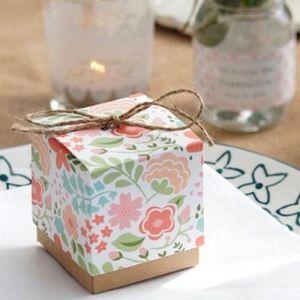 BOÎTE À DRAGÉES 10 Boîtes à dragées fleurie thème Vintage