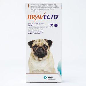 ANTIPARASITAIRE Bravecto 250mg pour les petits chiens 4,5-10 kg