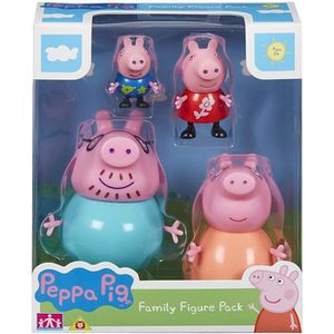 FIGURINE - PERSONNAGE Pappa Pig Family Figures 4 figurines