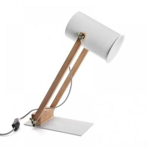 LAMPE A POSER Lampe à poser FARES style scandinave blanc