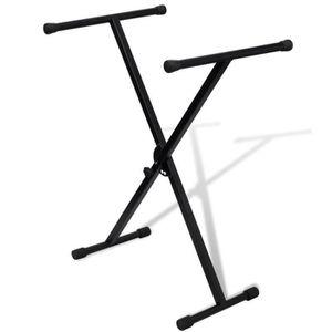 PIED - STAND Support de clavier réglable mono-barre en X
