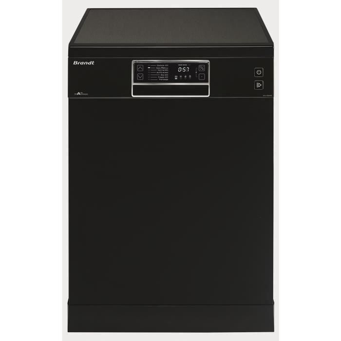 BRANDT DFH13524B - Lave vaisselle posable - 13 couverts - 44 dB - A++ - Larg 60 cm - Noir