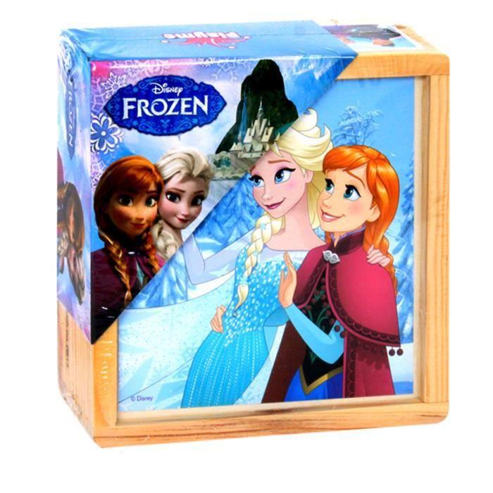 REINE DES NEIGES - Puzzle en bois 21 pièces personnages - Mixte - A partir de 18 mois - Livré à l'unitéPUZZLE