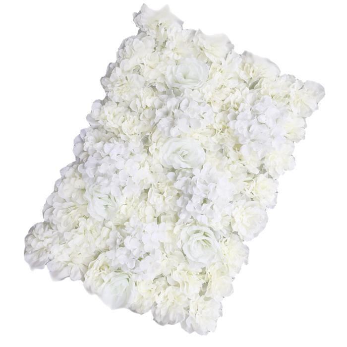 Mur De Fleurs Artificielles Cadre De Mariage Colonne De Fleurs Creme