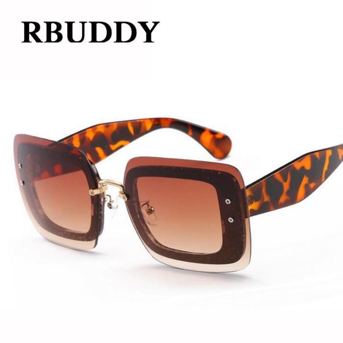 b8b85cbb779376 RBUDDY place Transpartent Femmes Lunettes de soleil Marque Fashion Designer  Lady lentilles claires et fraîches Lunettes