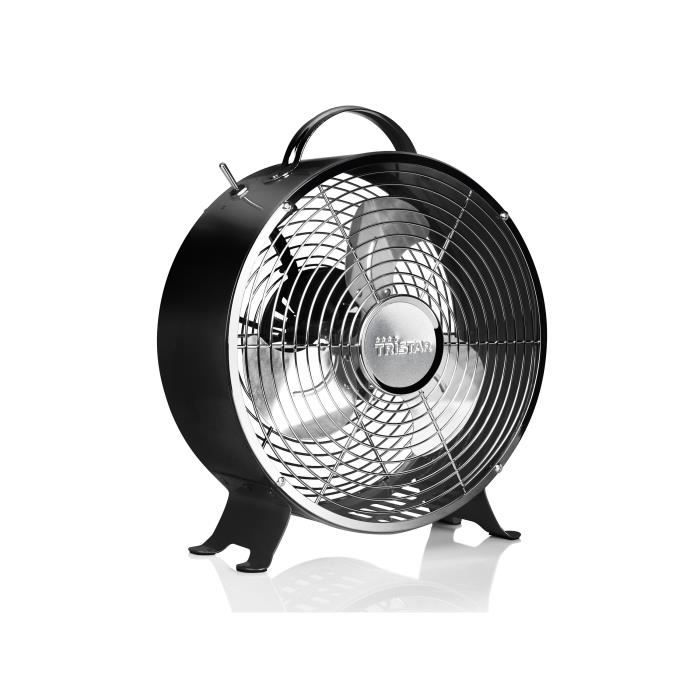 tristar ventilateur de sol 25 cm noir achat vente. Black Bedroom Furniture Sets. Home Design Ideas