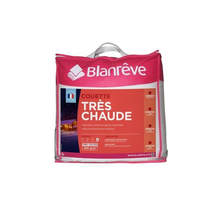 BLANREVE Couette très chaude 240x260 cm blanc   Achat / Vente
