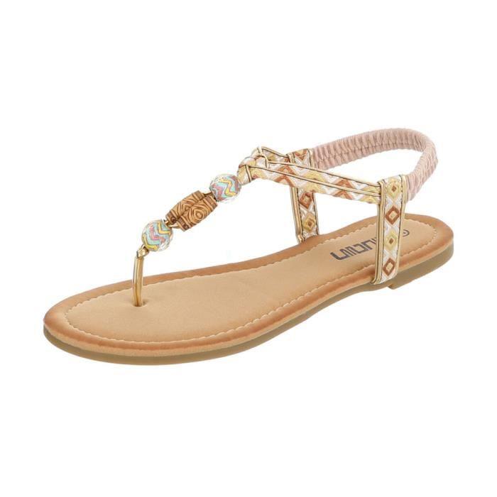 Sandales Multi Femme 41 Des Tongs Beige Chaussures m8Nv0wOn