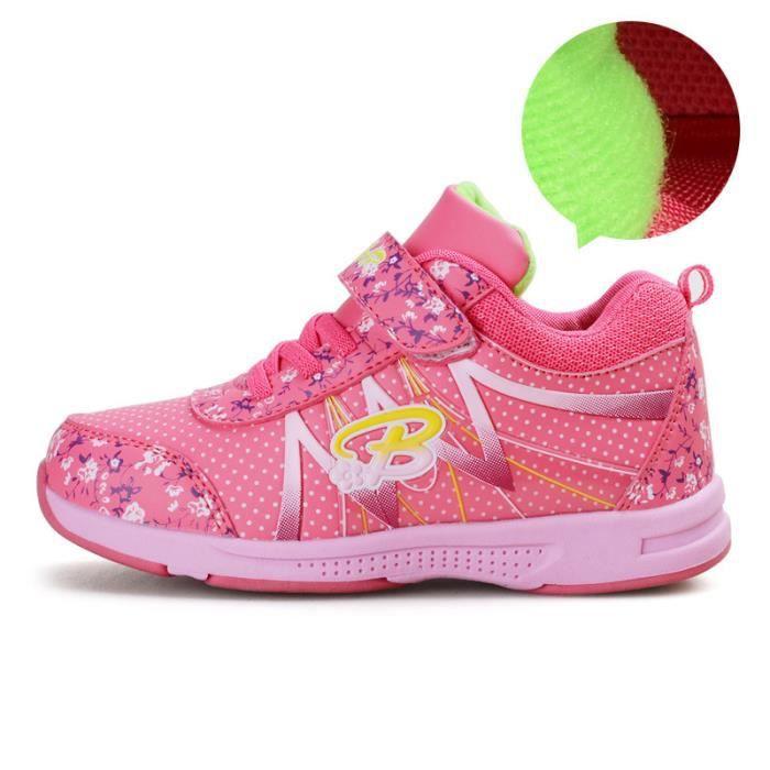 nouvelle arrivee e8aef 89396 Basket Enfant hiver Sport Plus cachemire Ultra léger Chaussure  BBZH-XZ211Rouge37-2
