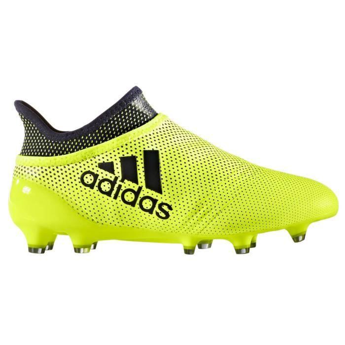 CHAUSSURES DE FOOTBALL ADIDAS - Adidas X 17 purespeed FG jaune/noir - (