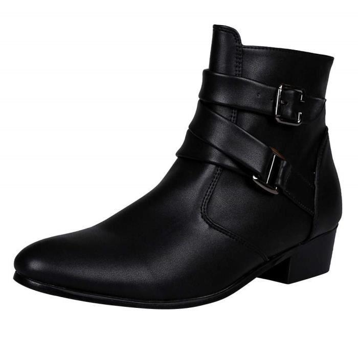 b7a5d2baaa490d Bottines Chelsea pour Homme en Cuir Chaussures pour Homme Montantes en Daim  Look Jodhpur Boots pour Hommes Chic Chelsea Boots Homme