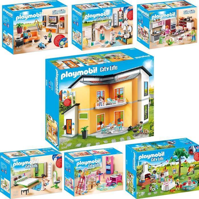 Playmobil maison moderne set 9266 9267 9268 9269 9270 9271 9272 achat vente assemblage - Toute les maison playmobil ...