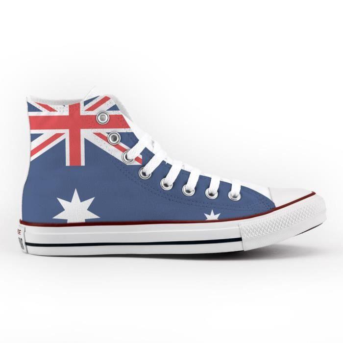 Converse All Star Personnalisé et Imprimés - chaussures à la main - produit Italien - Australian Flag