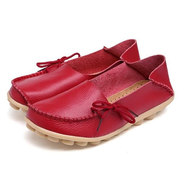 New Cowhide Leather Casual Loafer Flats Silp-on Carving Moccasin DNM2W Taille-38 Gmx8WMSLi