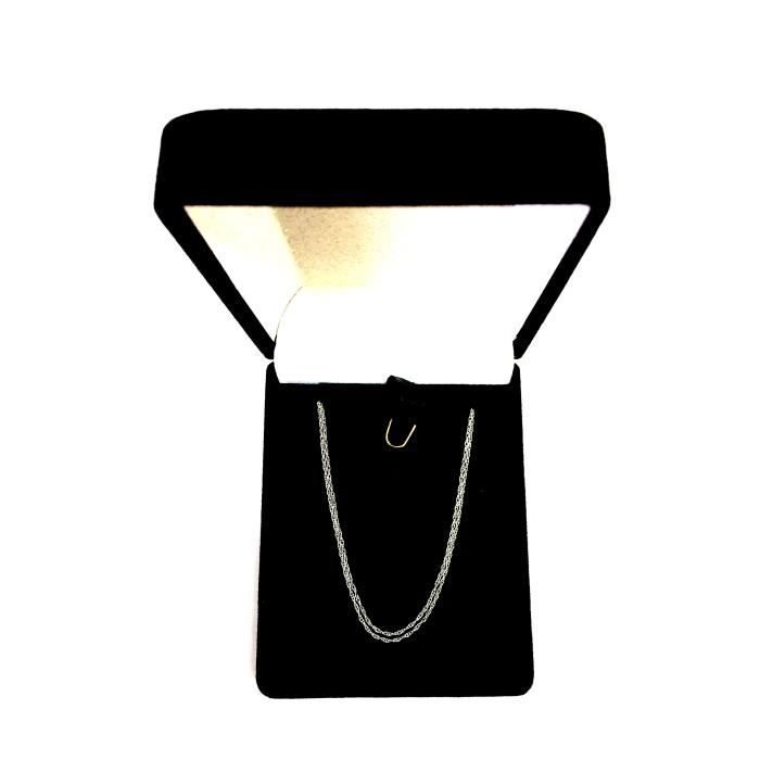 Collier- 14k or blanc corde, 0,6 mm, 18