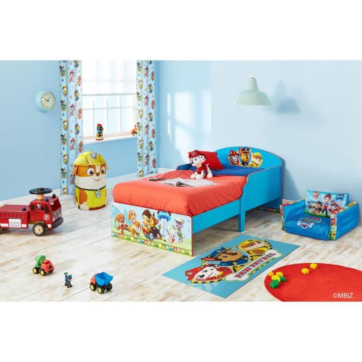 chambre enfant pat patrouille 70x140 bleu achat vente chambre compl te chambre enfant pat. Black Bedroom Furniture Sets. Home Design Ideas