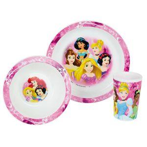 Disney Princesses Ensemble lunch : Assiette - Verre - Bol