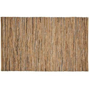 TAPIS Tapis en coton et cuir 200 x 300 cm