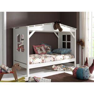 lit enfant cabane achat vente lit enfant cabane pas cher cdiscount. Black Bedroom Furniture Sets. Home Design Ideas