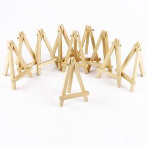 MARQUE-PLACE  10pcs mini chevalet trépied en bois 12 x 7cm suppo