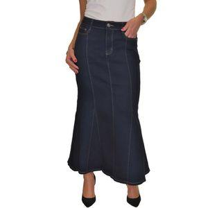 9c04a28e5b856 JUPE (2576-1)Maxi longue Jupe stretch jeans, lavage en
