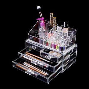 PALETTE DE MAQUILLAGE  Boîte de rangement maquillage cosmétiques 4 tiroir