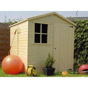 Abri de jardin en bois 5 m2 achat vente abri de jardin for Abri de jardin en bois traite autoclave pas cher