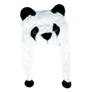 BONNET - CAGOULE Bonnet Tête d Animal - Enfant couleur - Blanc Noir ... 4964c910f38