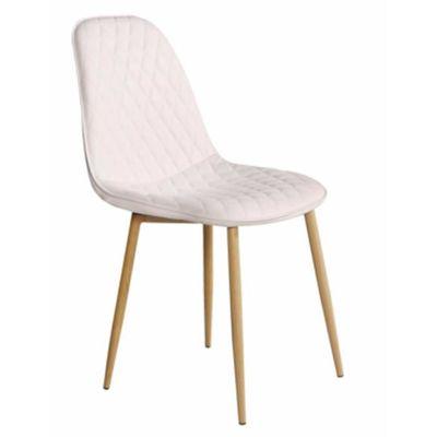 Chaise En Tissu Blanche Avec Pieds En Bois Dim L 45 X P 54 X P