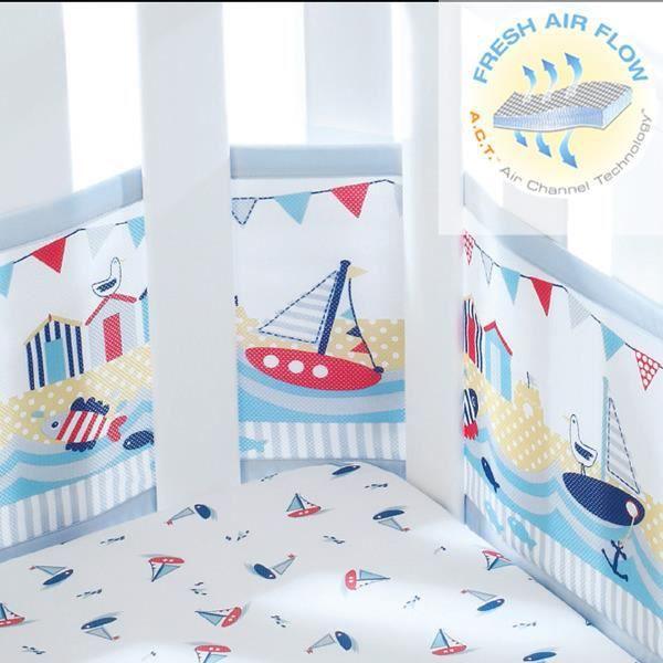 tour de lit respirant mod le petit marin achat vente. Black Bedroom Furniture Sets. Home Design Ideas