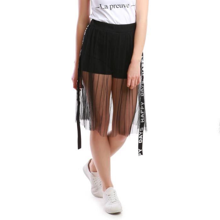 d2354f2992df La Modeuse - Short court femme Noir Noir - Achat   Vente short ...