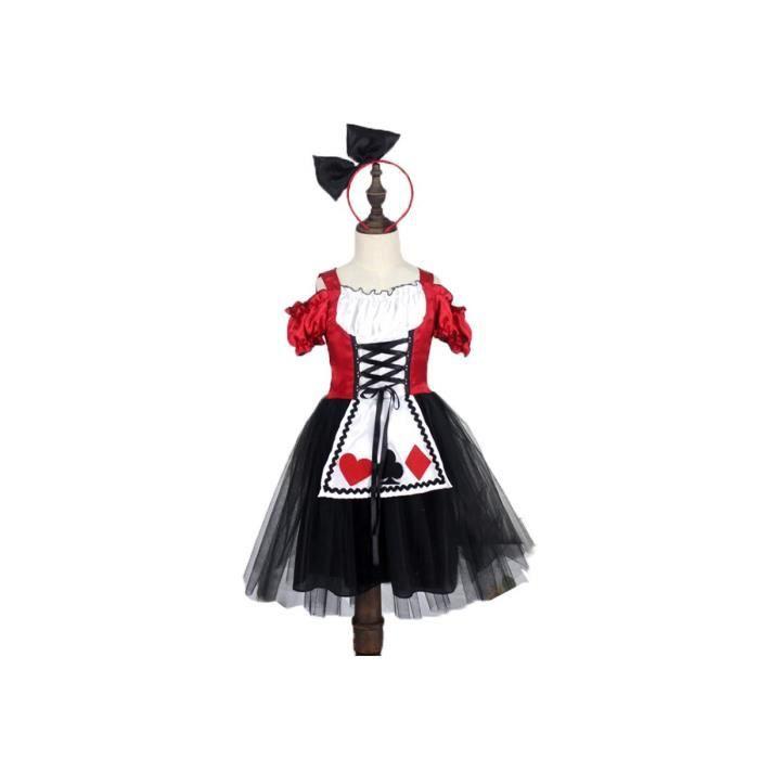 alice au pays des merveilles la reine de c ur robe enfant cosplay costume achat vente. Black Bedroom Furniture Sets. Home Design Ideas