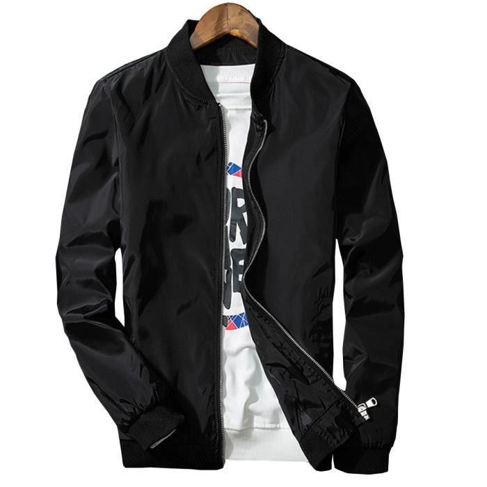 Type Montant Jeune Homme bleu Col Fermeture gris Coupe Slim Bomber Noir Pour Zip Marine Par Blouson BqdxTT
