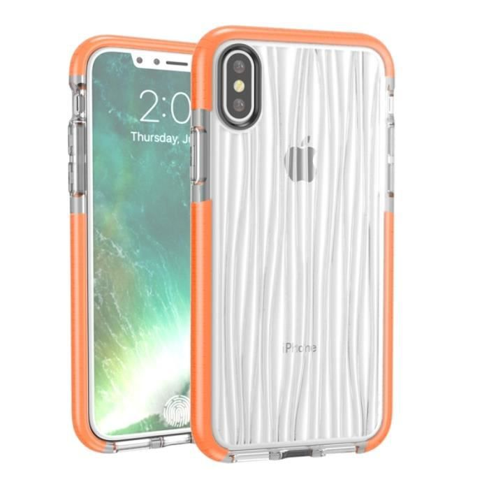coque apple iphone x orange