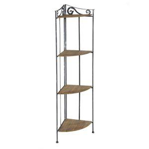 meuble metal et bois achat vente pas cher. Black Bedroom Furniture Sets. Home Design Ideas