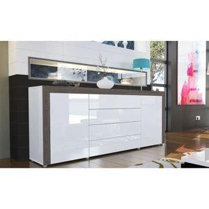 bahut laque blanc brillant achat vente bahut laque blanc brillant pas cher soldes d s le. Black Bedroom Furniture Sets. Home Design Ideas