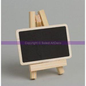CHEVALET PORTE-NOM Mini Chevalet de table en bois avec ardoise à p...