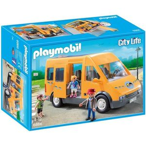 VOITURE - CAMION PLAYMOBIL 6866 - City Life - Bus Scolaire