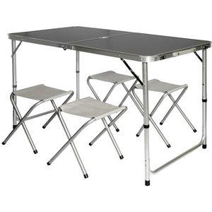 TABLE DE CAMPING Table de camping pliable réglable en hauteur 120x6