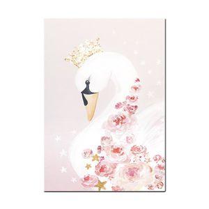 TABLEAU - TOILE Peinture à l'huile Tableau décoratif Oie blanche 3