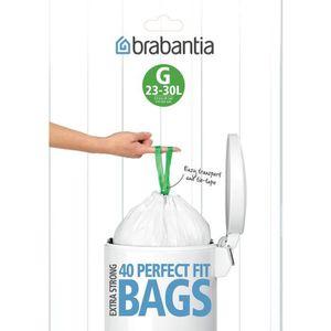 SAC POUBELLE BRABANTIA Lot de 40 sacs poubelle distributeur Per