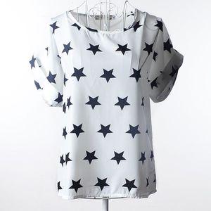 T-SHIRT Tee-Shirt Haut été Imprimé Carreaux Femme Papillon