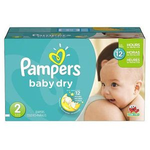 COUCHE 276 Couches Pampers Baby Dry taille 2