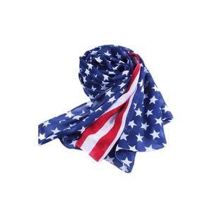 44814845c8b0 ECHARPE - FOULARD Mode long doux pour dames chale americain drapeau